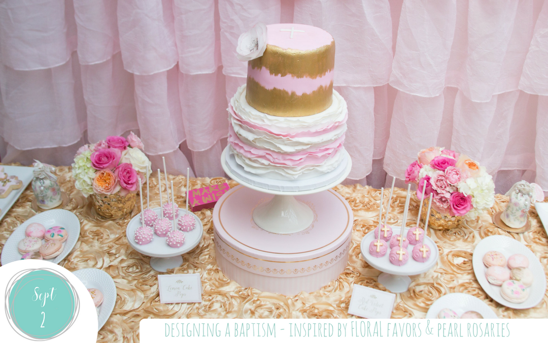 Floral and Pearl Inspired Baptism