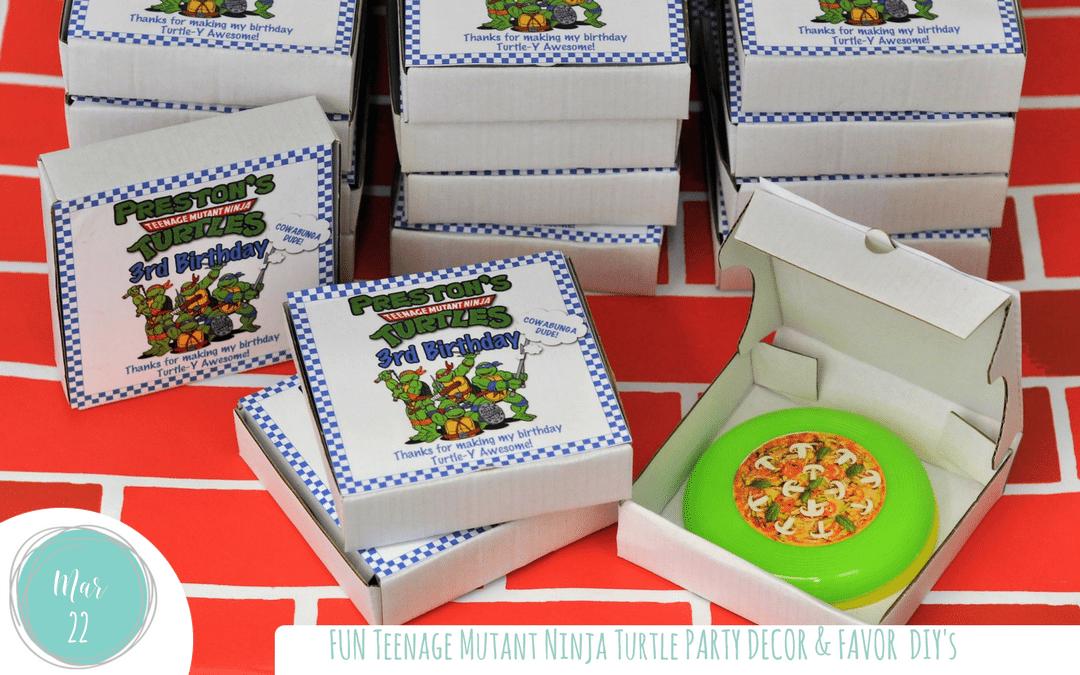 Teenage Mutant Ninja Turtles Party Decor & DIY's
