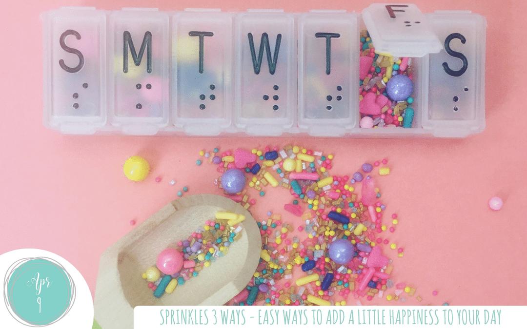 Sprinkles 3 ways! Get that quick & easy sprinkle fix!