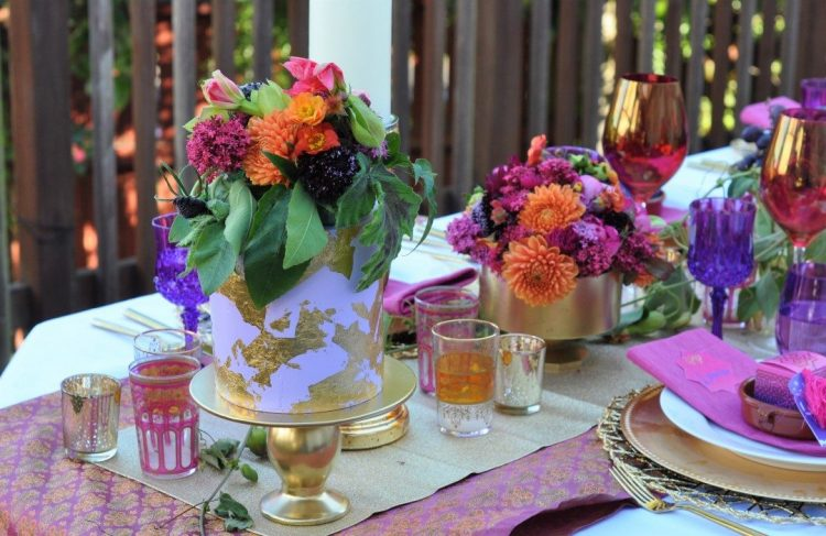 Arabian Nights Bridal Shower Centerpiece | Fern and Maple Events and Party Blog