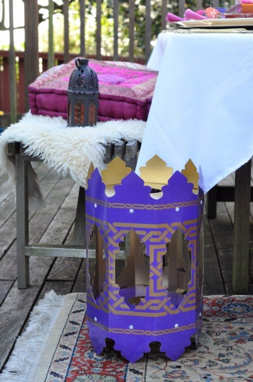 Arabian Nights Bridal Shower Floor Accents | Fern and Maple Events and Party Blog