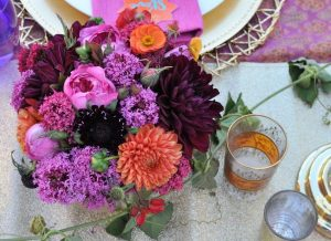 Arabian Nights Bridal Shower Floral Arrangement | Fern and Maple Events and Party Blog