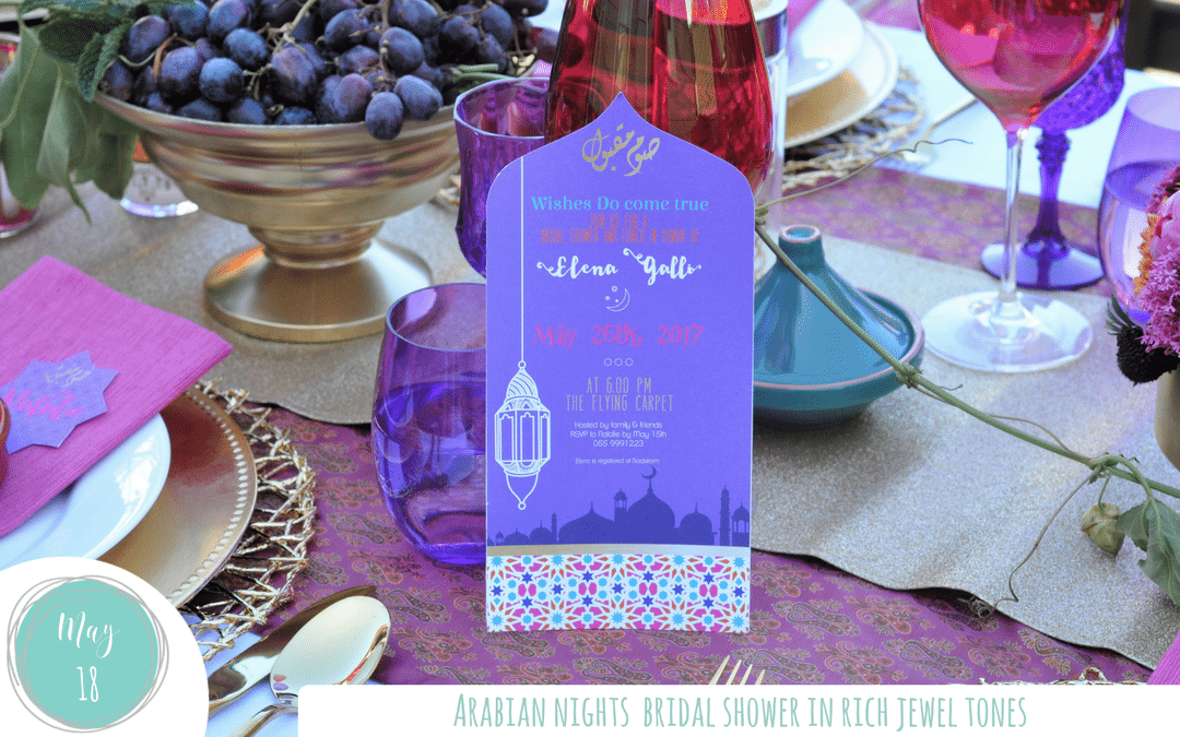 77f276e1cc36 Jewel Tone Arabian Nights Bridal Shower