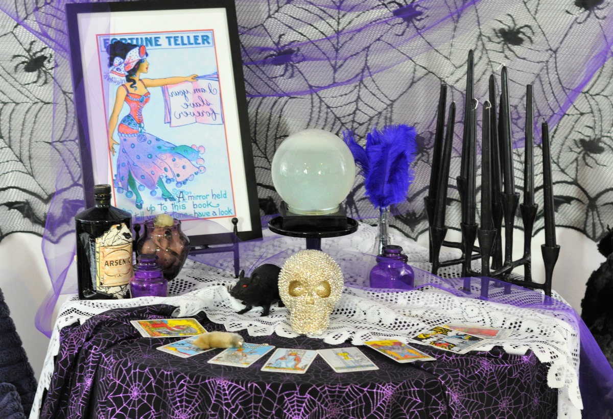 Host A Fortune Teller Themed Halloween Craft Party Fern And Maple