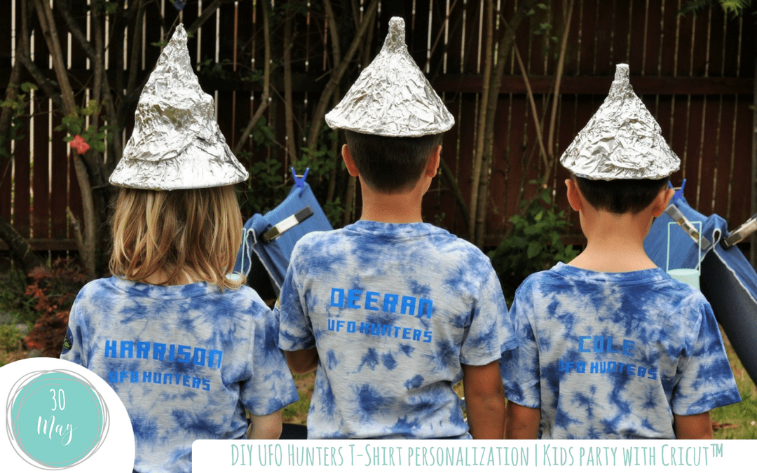 DIY UFO Hunters T-Shirt Personalization | Kids party with Cricut™