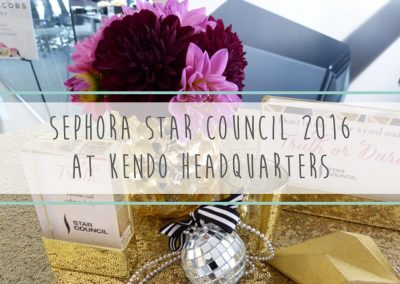 Sephora Star Council 2016 at Kendo Headquarters