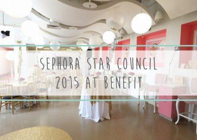 Sephora Star Council 2015 at Benefit