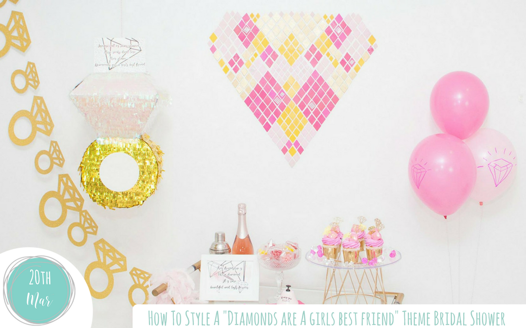 How to Style a Diamonds are a Girls Best Friend  Bridal Shower