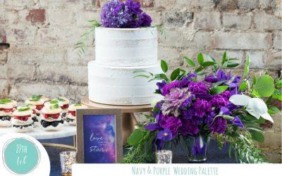 Elegant Navy & Purple Wedding Palette