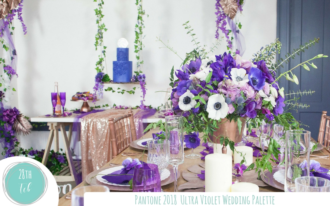 Create a Vibrant Wedding with Ultra Violet – Pantone Color of the Year 2018