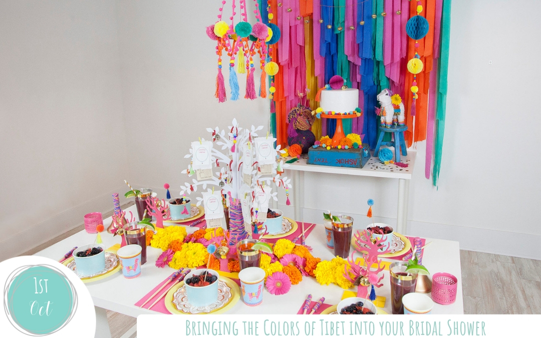 Bringing the Colors of Tibet into your Bridal Shower