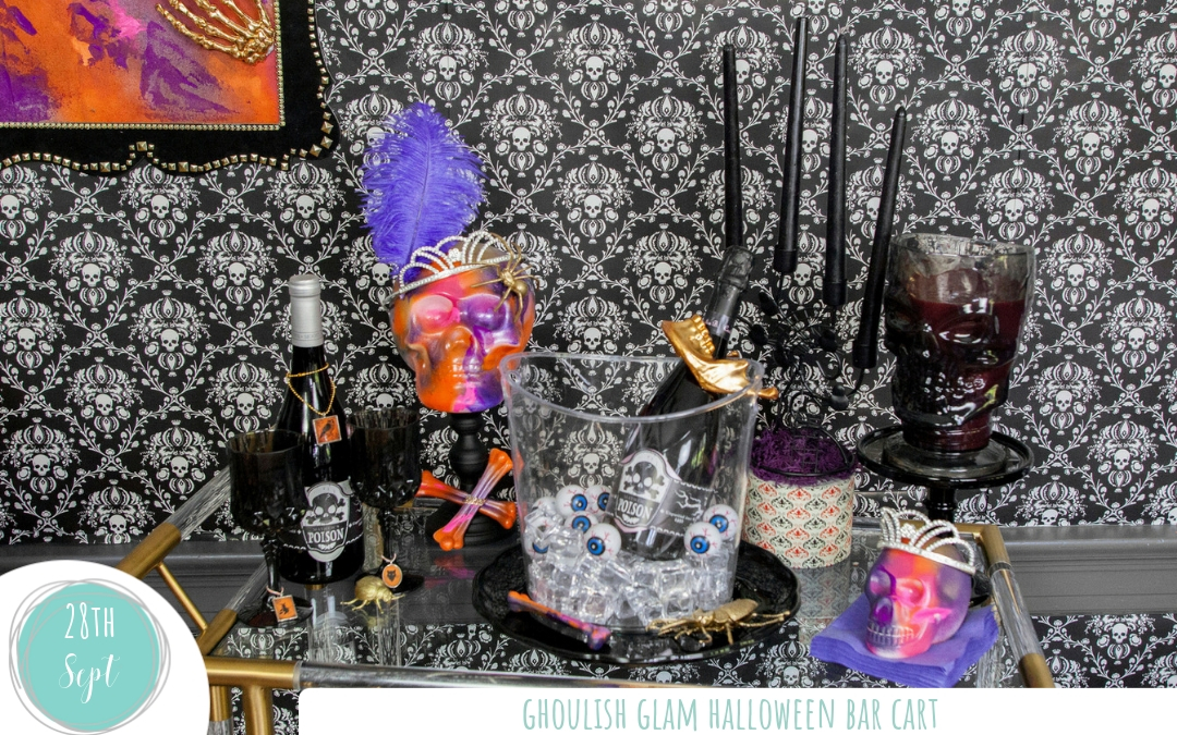 Punk Inspired Halloween Bar Cart