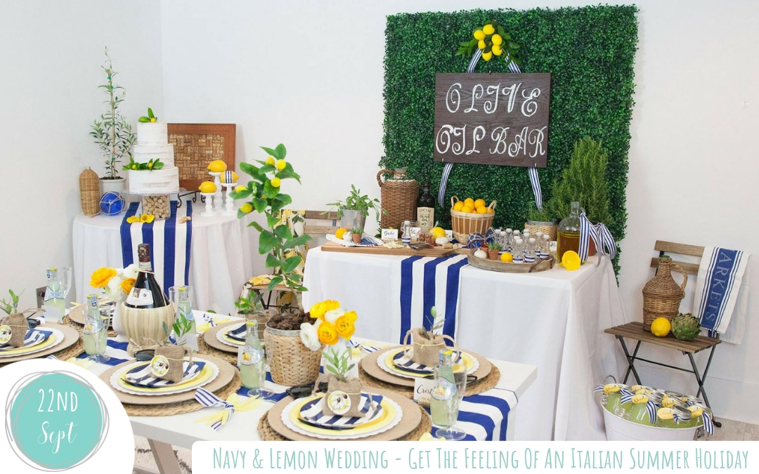 Navy & Lemon Italian Summer Holiday Inspired Wedding