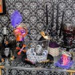 Punk Inspired Halloween Bar Cart