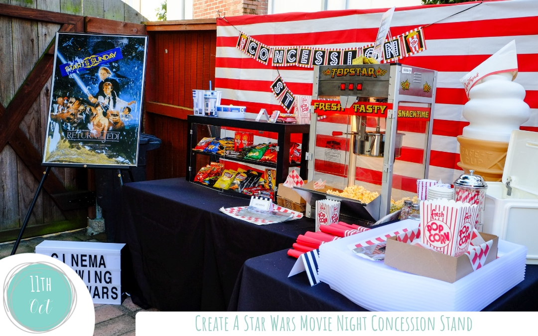 How to Set-Up a Star Wars Movie Party Concession Stand