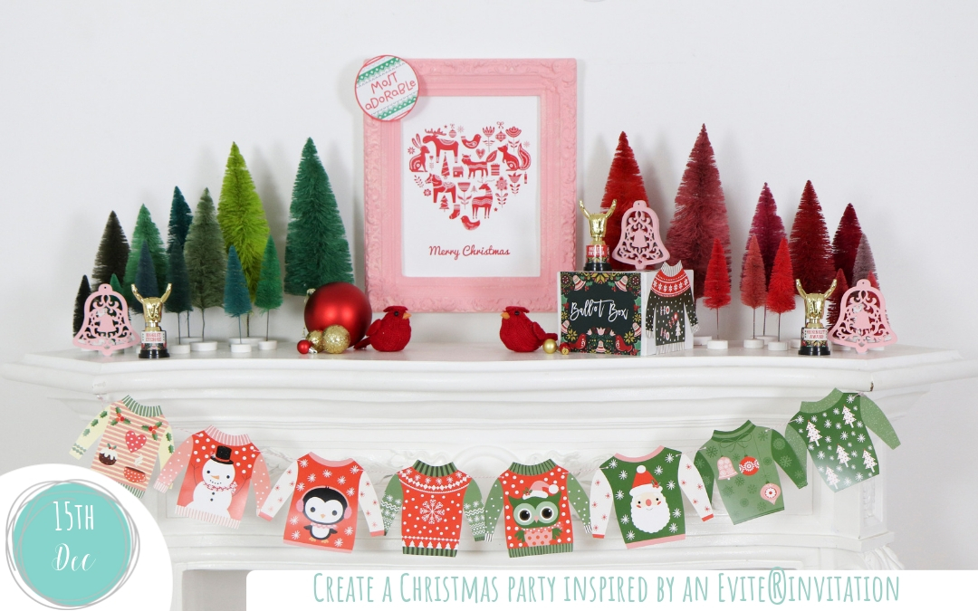 Create a Christmas party inspired by an Evite® invitation