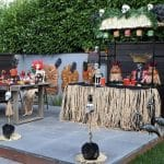 Backyard Halloween Luau