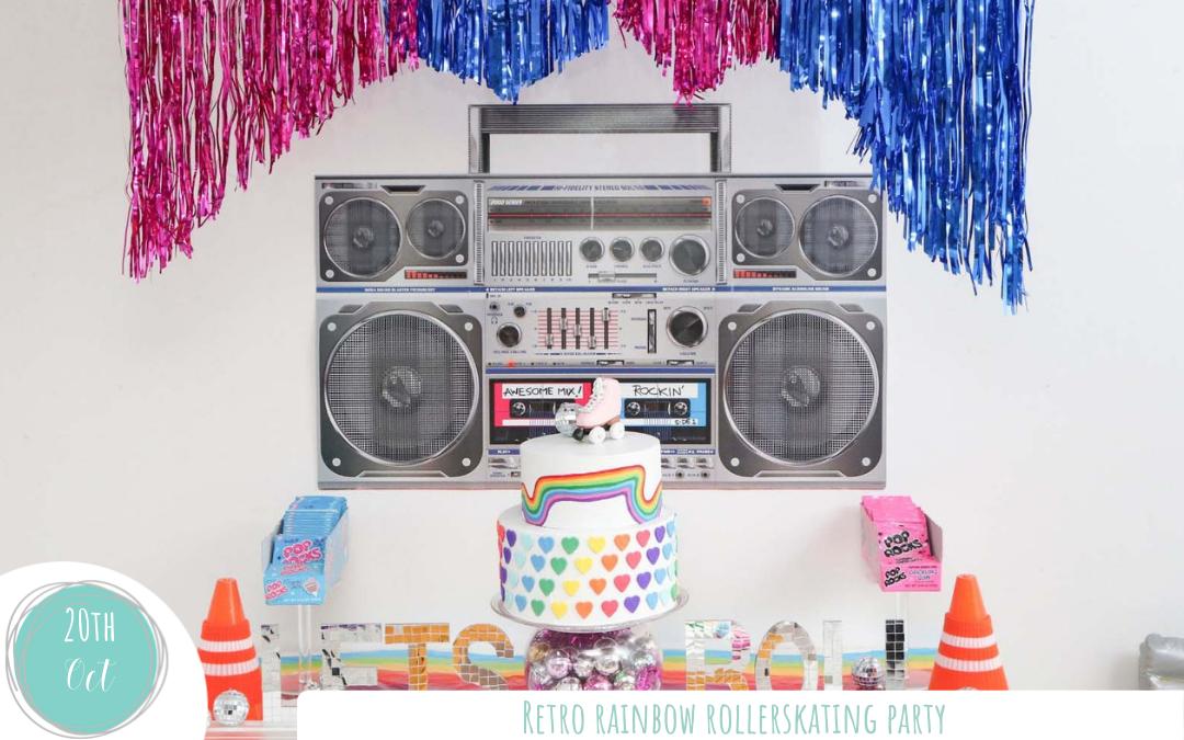 Rainbow Roller Disco Party