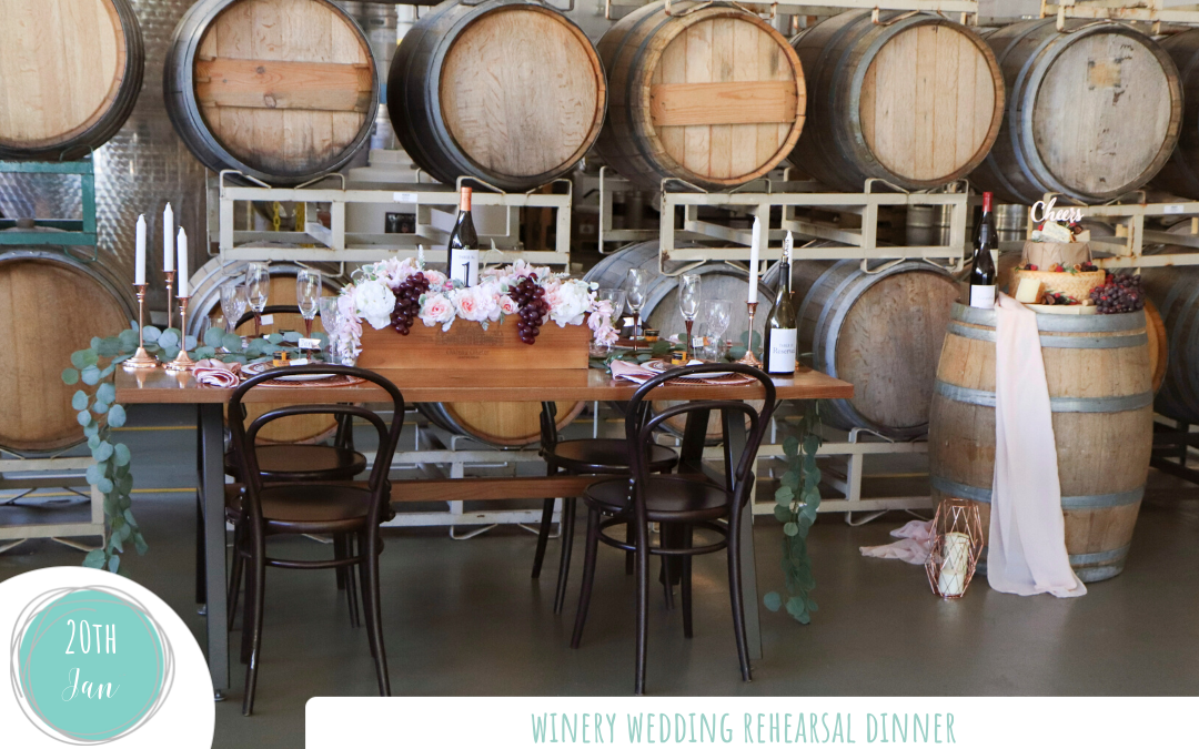 Winery Wedding Rehearsal Dinner