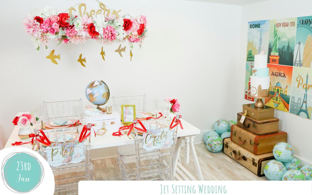 Jet Setters Travel Inspired Wedding