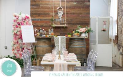 Vineyard Garden Inspired Wedding Shower