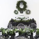 Black and Green Winter Wedding
