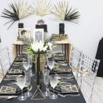 Black and Gold Art Deco Wedding