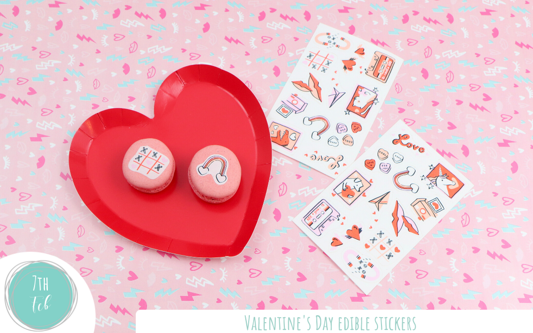 Game Changing Valentine's Day Edible Stickers