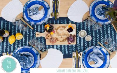 Shibori Outdoor Tablescape