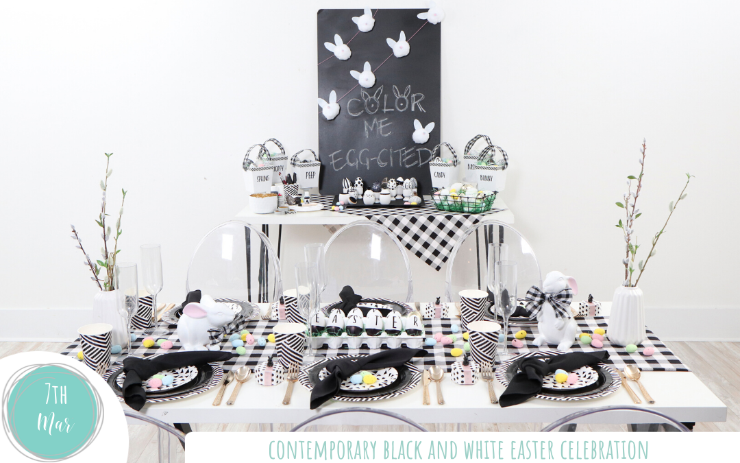 Contemporary Black and White Easter Celebration