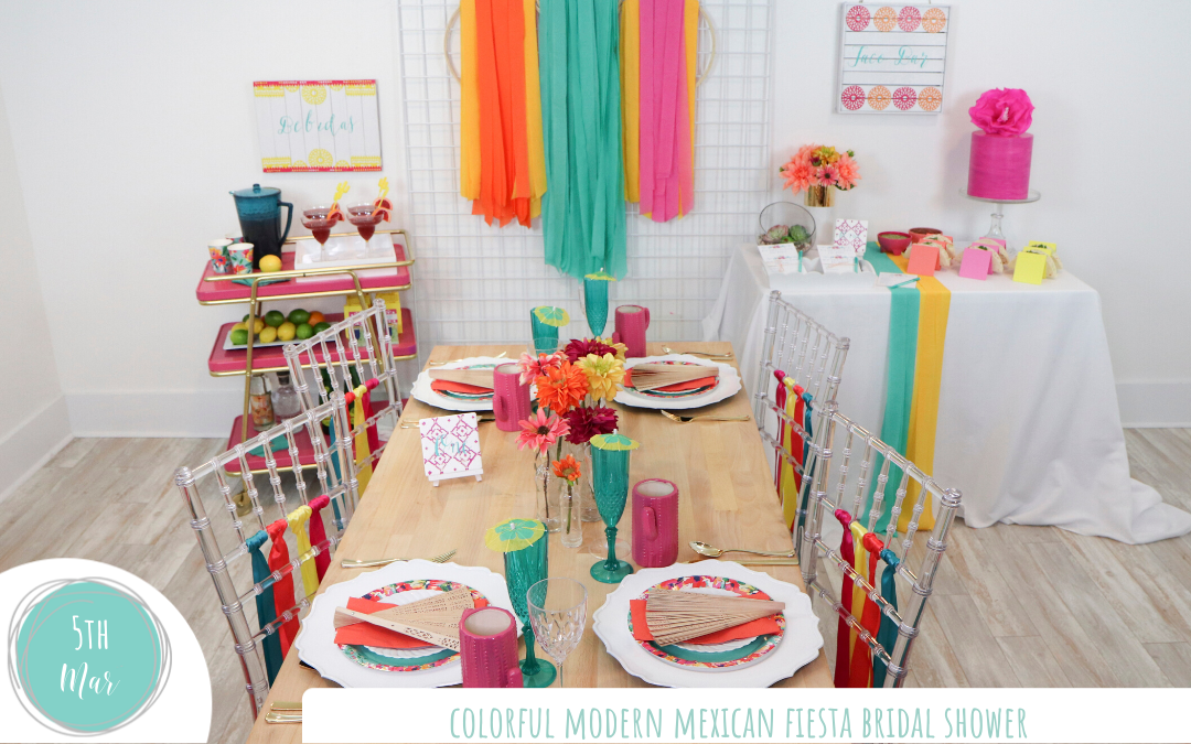 Colorful Modern Mexican Fiesta Bridal Shower