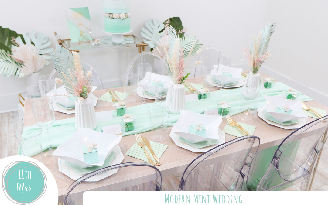 Modern Mint Wedding