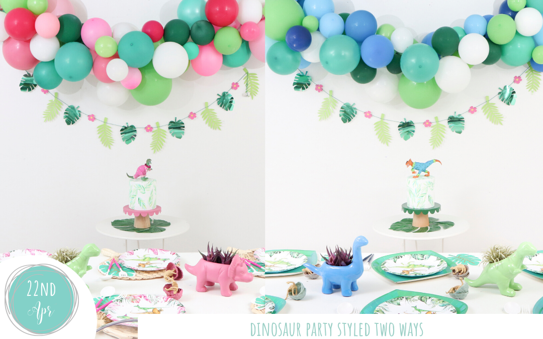Dinosaur Party Styled Two Ways