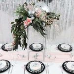 Four Disco Inspired Table Settings