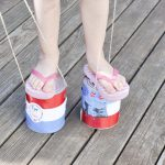 Easy Fourth of July Crafts - Tin Can Stilts