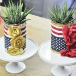 Easy Fourth of July Crafts - Tin Can Planters