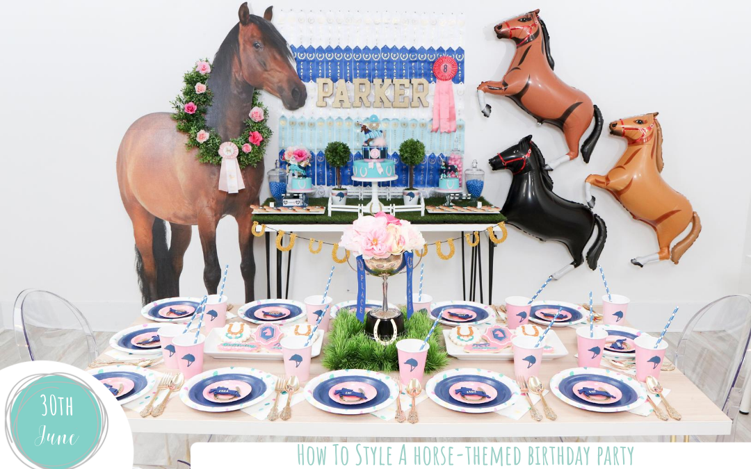 How to Style Tables for a Horse-Themed Birthday Party