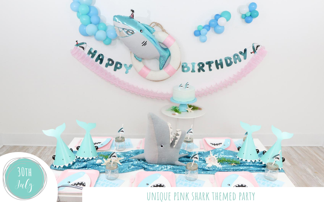 Unique Pink Shark Themed Party