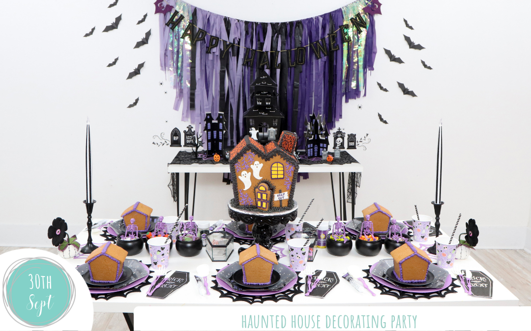 How to Plan a Gingerbread Haunted House Decorating Party