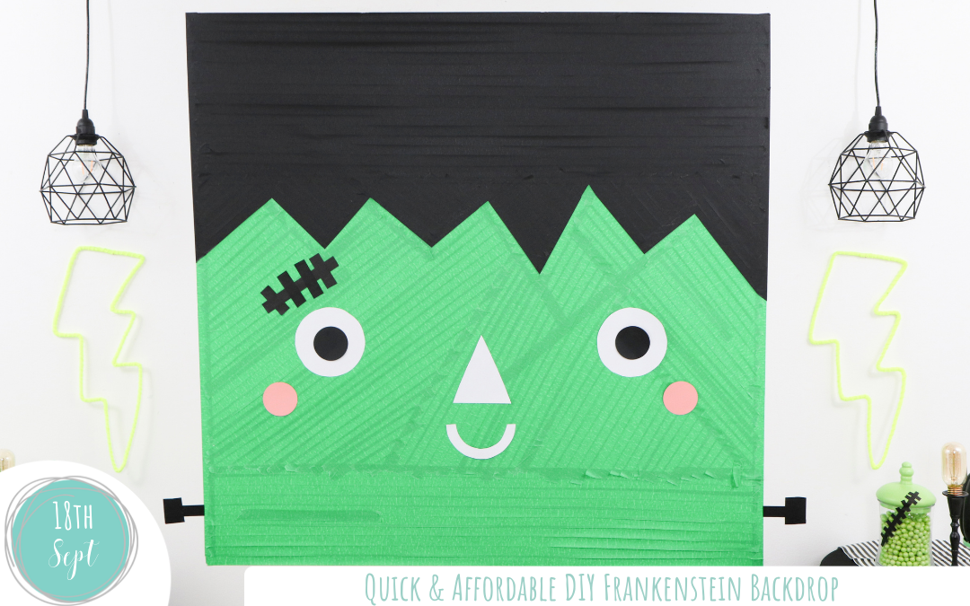 Easy & Affordable Friendly Frankie Frankenstein Halloween Backdrop