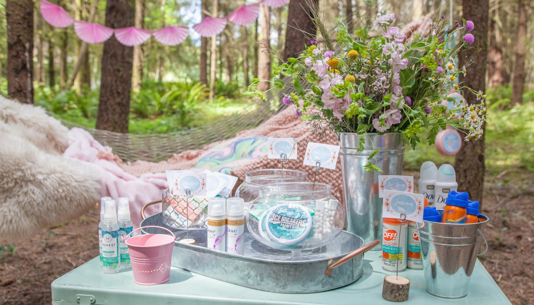 glamping bachelorette party comfort station