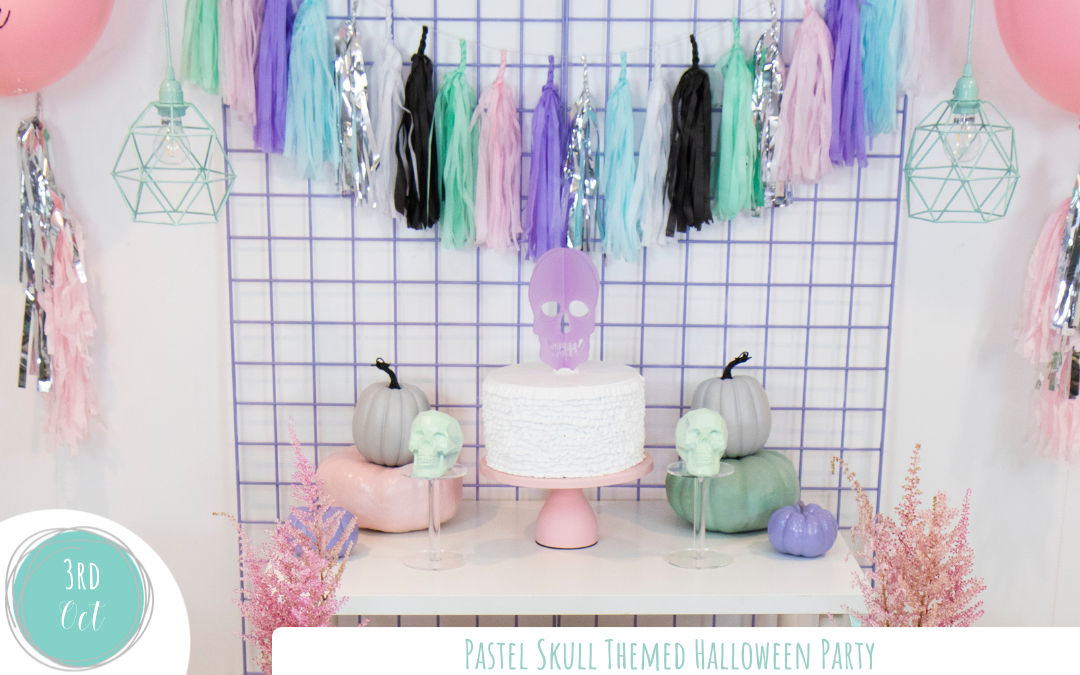 Pastel Skull Themed Halloween Party