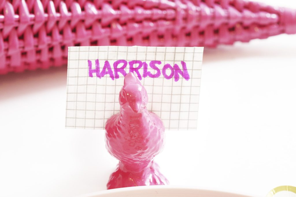 modern pink thanksgiving place cards