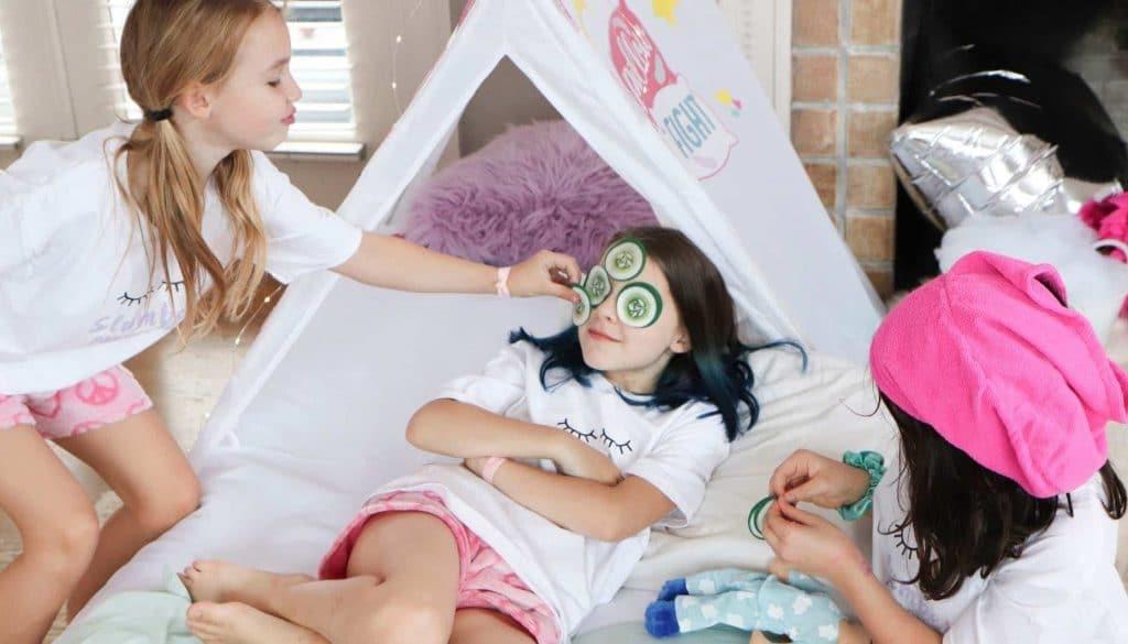 slumber party spa activities