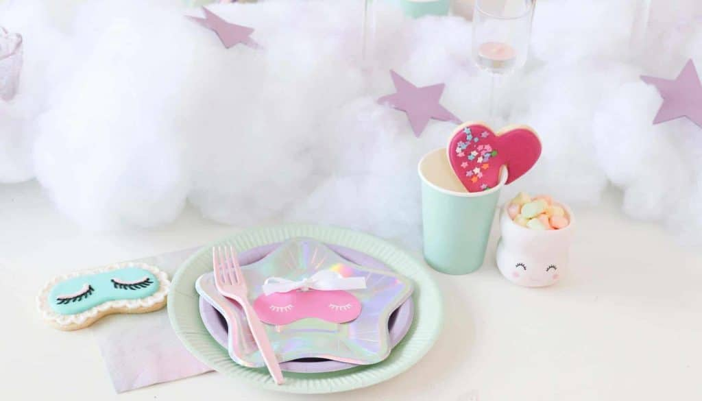 slumber party place settings
