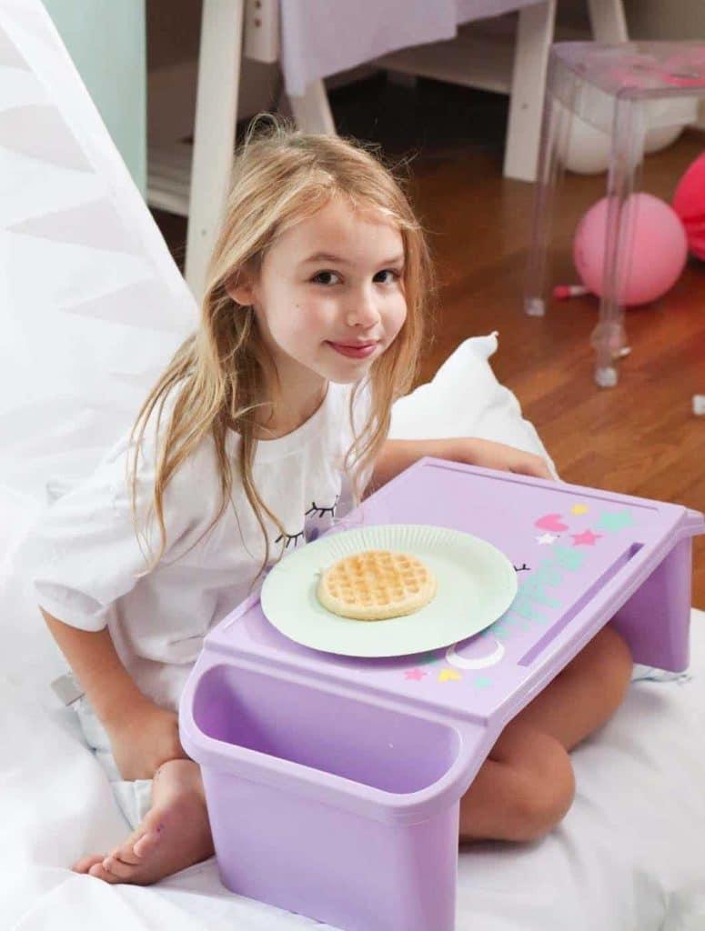 slumber party waffle breakfast
