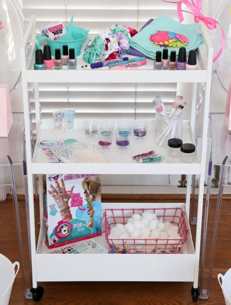 slumber party pampering station