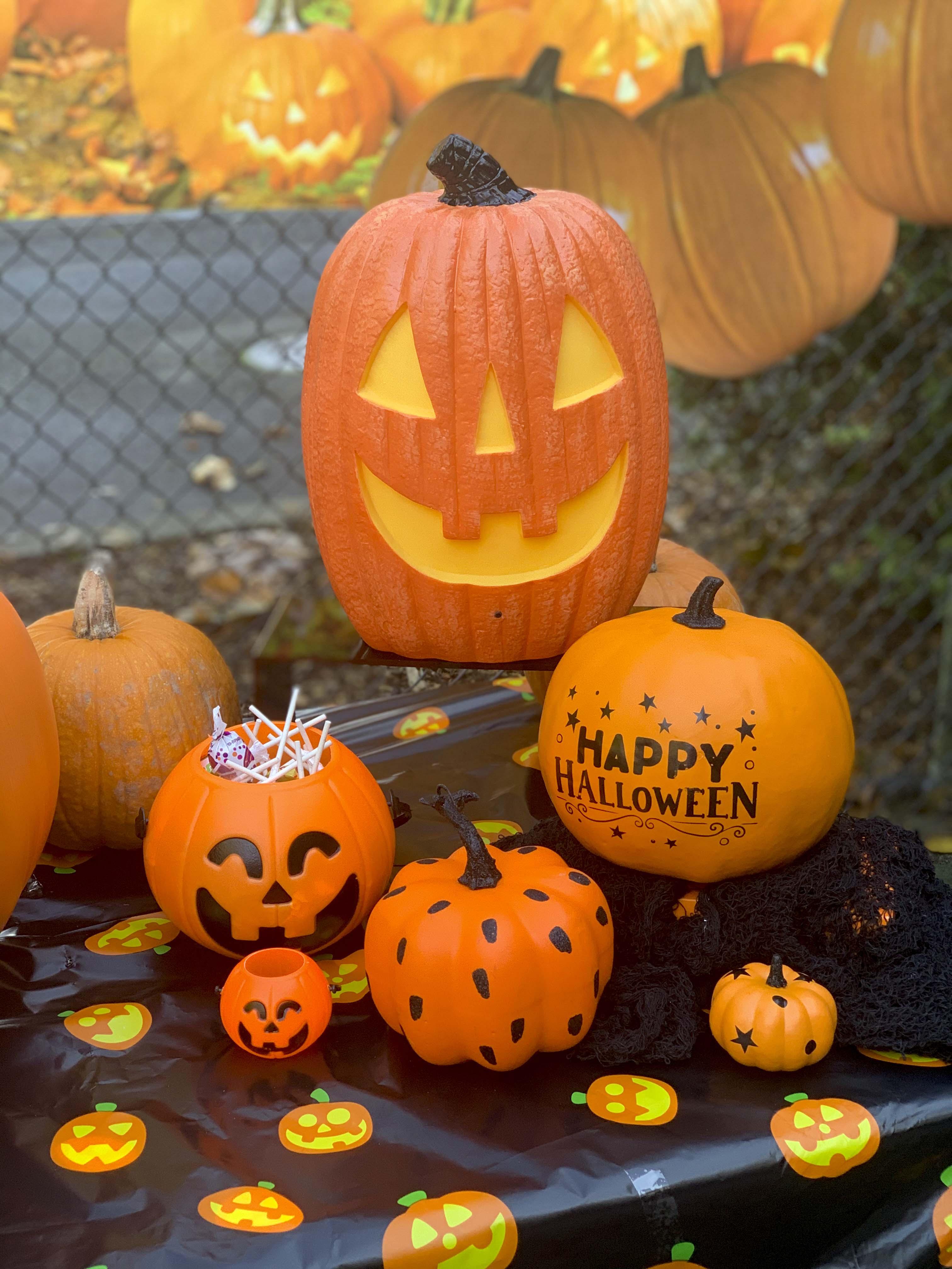 halloween community festival pumpkin patch table