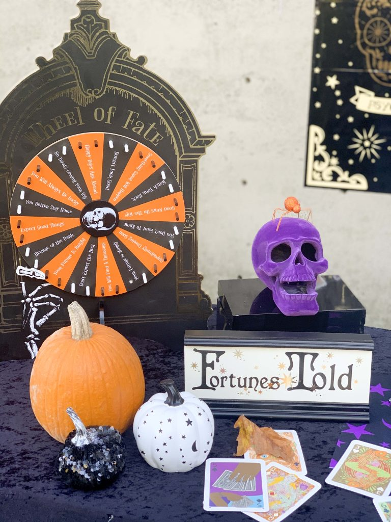 halloween community festival fortune teller table