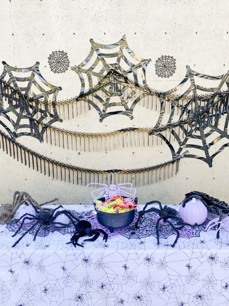 halloween community festival spider table